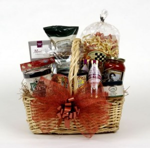 gift basket with food